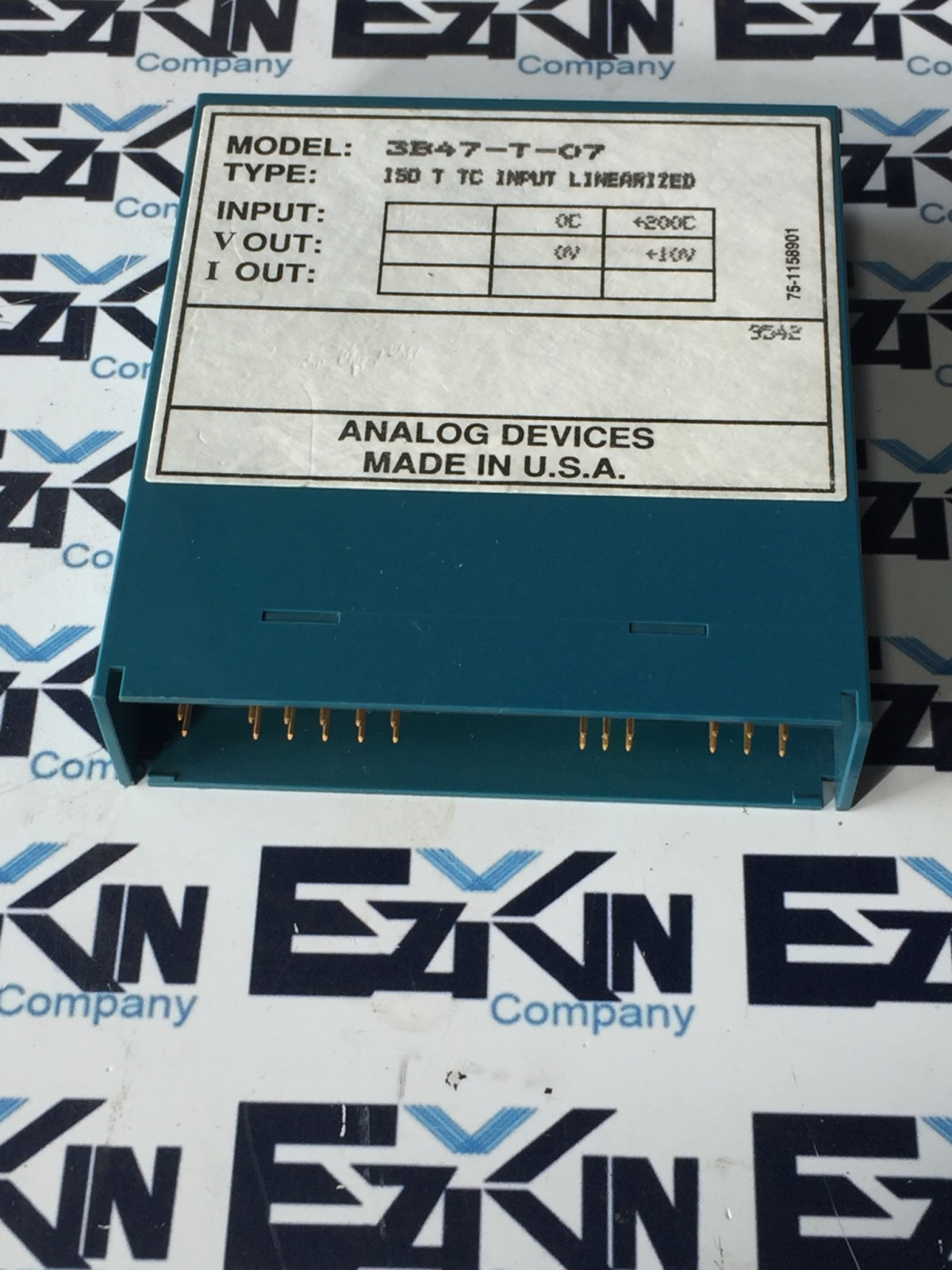 ANALOG DEVICES 3B47-T-07 ISO T TC INPUT LINEARIZED