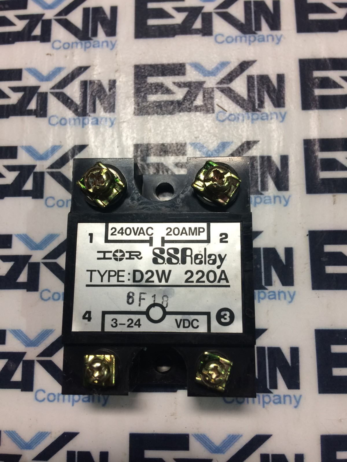 IR D2W 220A SOLID STATE RELAY 240VAC 20AMP 3-24 VDC RELAY D2W